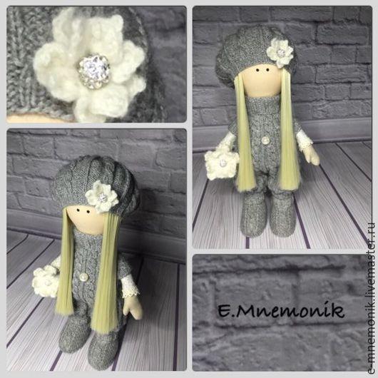 Коллекционные куклы ручной работы. Ярмарка Мастеров - ручная работа. Купить Лялечка. Handmade. Серый, кукла в подарок, куклы и игрушки