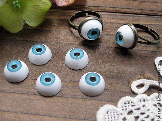 """Куклы и игрушки ручной работы. Ярмарка Мастеров - ручная работа. Купить 12мм Глаза кукольные (голубые) 2шт. """"2911"""". Handmade."""