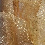Ткани ручной работы. Ярмарка Мастеров - ручная работа Сетка с глиттером «Золото». Handmade.
