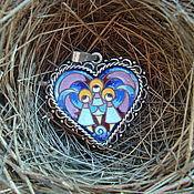 """Подвеска ручной работы. Ярмарка Мастеров - ручная работа Кулон """" Ангелы в сердце"""". Handmade."""