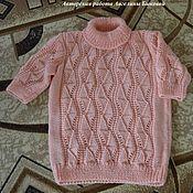 """Одежда ручной работы. Ярмарка Мастеров - ручная работа Вязаный спицами теплый свитер """"Коралловая нежность"""". Handmade."""