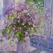 Картины и панно handmade. Livemaster - original item Picture. Flowers..purple. pink. gentle.. Handmade.