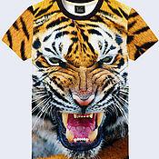 """Одежда ручной работы. Ярмарка Мастеров - ручная работа Мужская футболка """"Тигр"""". Handmade."""