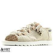 Обувь ручной работы handmade. Livemaster - original item Open sneakers 13-331-s69 (СБ). Handmade.