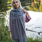 Аксессуары handmade. Livemaster - original item Scarves: Kid mohair Grey knitted Stole. Handmade.