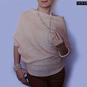 Одежда handmade. Livemaster - original item Apricot asymmetrical blouses with sleeves