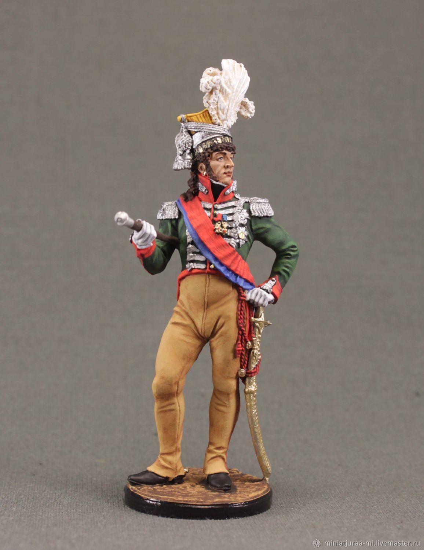 Tin soldier 54mm. Napoleonic wars.EK Castings. Murat.1810, Military miniature, St. Petersburg,  Фото №1
