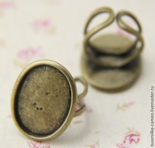 Для украшений ручной работы. Ярмарка Мастеров - ручная работа. Купить Основа для кольца Овал 18х25мм, античная бронза (1шт). Handmade.