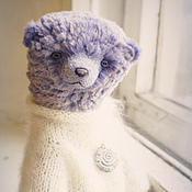 Куклы и игрушки handmade. Livemaster - original item Purple haze... Author`s collectible Teddy bear. Handmade.