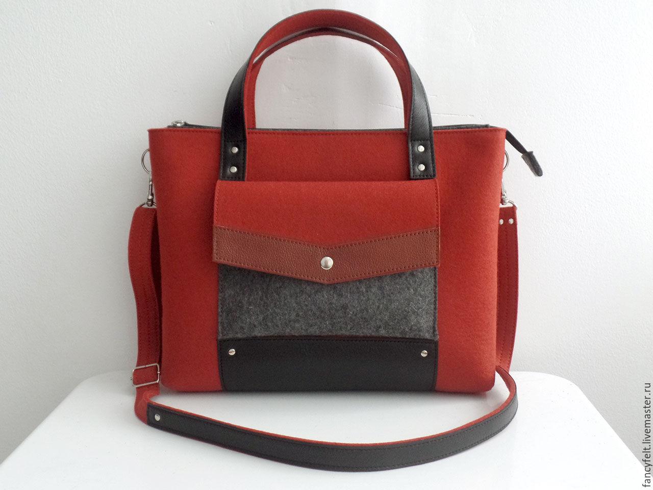 2d8001d69d3b Женские сумки ручной работы. Ярмарка Мастеров - ручная работа. Купить  Кирпичная сумка-портфель ...