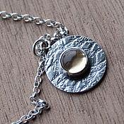 """Украшения ручной работы. Ярмарка Мастеров - ручная работа браслет """"Луна 2"""", цитрин, серебро. Handmade."""