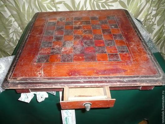 Реставрация. Ярмарка Мастеров - ручная работа. Купить Реставрация шахматной доски.. Handmade. Коричневый, мебель из дерева