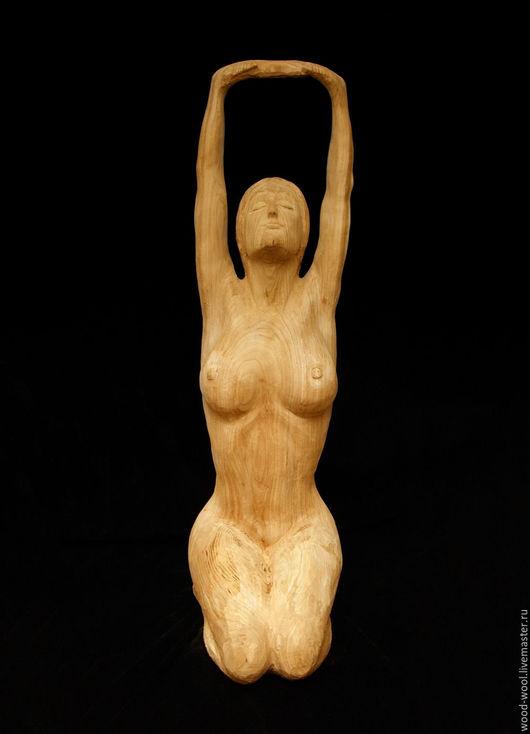 """Статуэтки ручной работы. Ярмарка Мастеров - ручная работа. Купить Скульптура напольная из дерева """"Утро"""". Handmade. Коричневый, скульптура, карагач"""