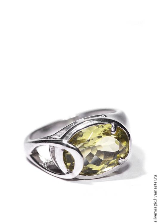 Кольца ручной работы. Ярмарка Мастеров - ручная работа. Купить Серебряное кольцо с лимонным кварцем.. Handmade. Серебряное кольцо