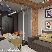 Дизайн и реклама handmade. Livemaster - original item Studio apartment for young family