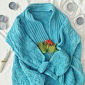 Одежда ручной работы. Ярмарка Мастеров - ручная работа Кардиган с узорами. Handmade.