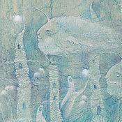 Картины и панно ручной работы. Ярмарка Мастеров - ручная работа Городок. Картина в морксом стиле. Море. Русалки. Рыбы.. Handmade.
