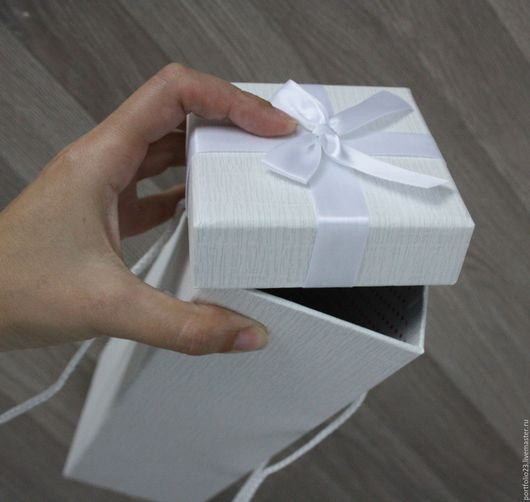 Куклы и игрушки ручной работы. Ярмарка Мастеров - ручная работа. Купить Коробка подарочная. Handmade. Белый, коробка, картон