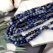 handmade. Livemaster - original item 10 PCs. Natural sodalite faceted beads 4 mm (4683). Handmade.