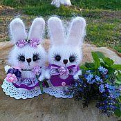 Куклы и игрушки ручной работы. Ярмарка Мастеров - ручная работа Сиренькины)))зайцы вязаные. Handmade.