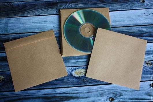 Упаковка ручной работы. Ярмарка Мастеров - ручная работа. Купить Крафт конверт для CD диска. Handmade. Коричневый, конверт, декстрим