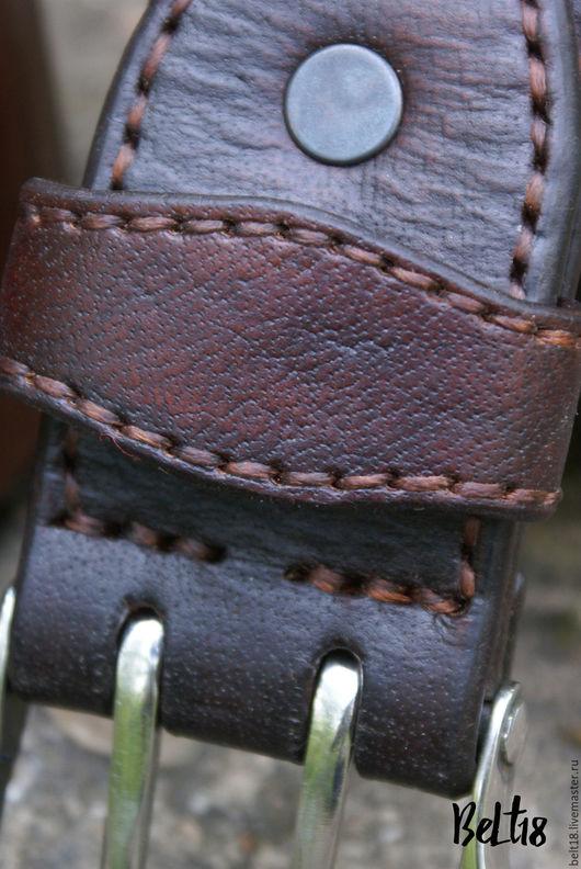 Пояса, ремни ручной работы. Ярмарка Мастеров - ручная работа. Купить элитный Мужской ремень под джинсы. Handmade. Ремень