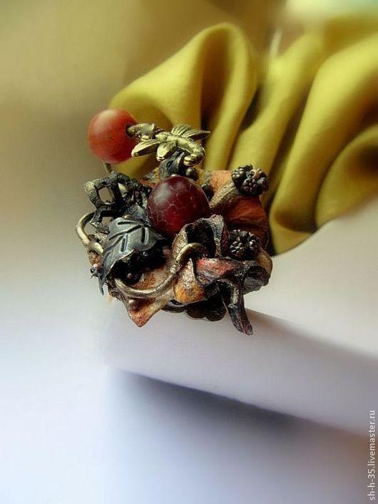 """Кольца ручной работы. Ярмарка Мастеров - ручная работа. Купить Кольцо """"Полет над сентябрем"""". Handmade. Кольцо из кожи"""