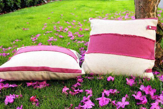 Текстиль, ковры ручной работы. Ярмарка Мастеров - ручная работа. Купить Наволочки на диванные подушки. 100% лен.. Handmade.