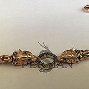 handmade. Livemaster - original item Gold bracelet Bismarck Wolves. Handmade.