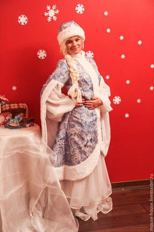 Карнавальные костюмы ручной работы. Ярмарка Мастеров - ручная работа. Купить Снегурочка голубая 1. Handmade. Голубой, аниматоры