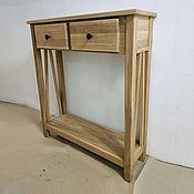 Для дома и интерьера handmade. Livemaster - original item Oak console table made of solid
