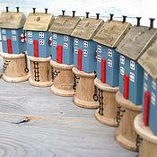 Для дома и интерьера ручной работы. Ярмарка Мастеров - ручная работа Домик - маяк - органайзер для ножниц. Handmade.