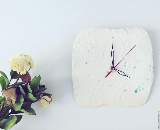 """Часы для дома ручной работы. Ярмарка Мастеров - ручная работа. Купить """" Бесконечность.."""". Handmade. Белый, глина"""