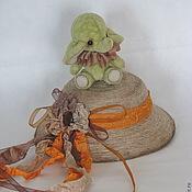 Куклы и игрушки ручной работы. Ярмарка Мастеров - ручная работа Слоня мини- тедди. 6,5см.. Handmade.