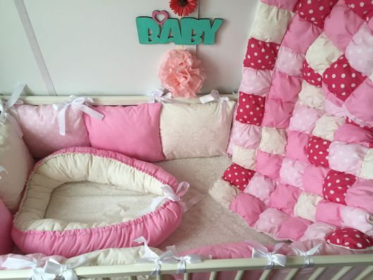 """Для новорожденных, ручной работы. Ярмарка Мастеров - ручная работа. Купить Комплект в кроватку """" Сны принцессы"""". Handmade."""