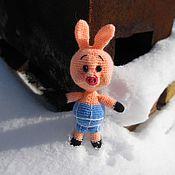 Куклы и игрушки ручной работы. Ярмарка Мастеров - ручная работа Пятачок из мультфильма о Винни-пухе  (вязанная игрушка). Handmade.