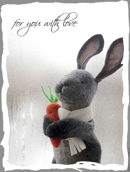 Кукольный театр ручной работы. Ярмарка Мастеров - ручная работа. Купить Братец Кролик, игрушка БИ-БА-БО, перчаточная кукла. Handmade.