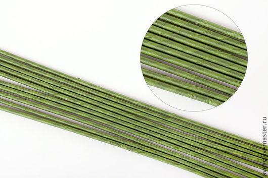 Материалы для флористики ручной работы. Ярмарка Мастеров - ручная работа. Купить Проволока для цветов  №16, 40 см,в бумажной обмотке зеленая 10 шт А-21. Handmade.