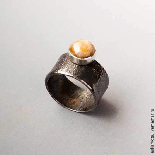 Кольца ручной работы. Ярмарка Мастеров - ручная работа. Купить Кольцо из серебра с желтым сапфиром Юпитер. Handmade.
