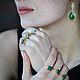 Кольца ручной работы. Позолоченное Серебряное Кольцо С Камнем Зеленый Оникс. Masha (delezhen). Ярмарка Мастеров. Материал, необычное