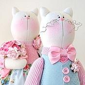Куклы и игрушки ручной работы. Ярмарка Мастеров - ручная работа Влюблённые котики в стиле Шебби. Handmade.