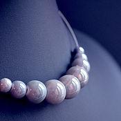 Украшения handmade. Livemaster - original item Necklace choker ceramic beads gray