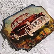 """Для дома и интерьера ручной работы. Ярмарка Мастеров - ручная работа Ключница """"Ретро-автомобиль DeSoto"""". Handmade."""