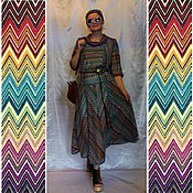 """Одежда ручной работы. Ярмарка Мастеров - ручная работа Платье летнее """"Зигзаги"""". Handmade."""