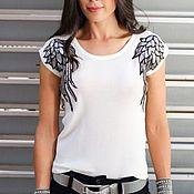 Материалы для творчества handmade. Livemaster - original item Applique Wings, embroidered with sequins. Handmade.