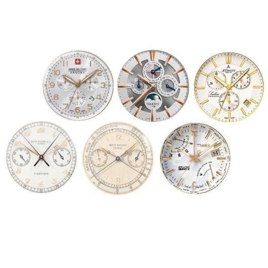 `Циферблат для часов с металлическим браслетом` водорастворимая бумага