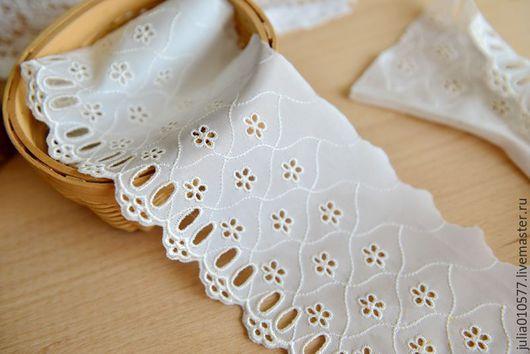 Шитье ручной работы. Ярмарка Мастеров - ручная работа. Купить Кружево шитье хлопок 11 см (основа синтетика). Handmade.