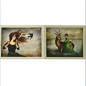Материалы для творчества ручной работы. Ярмарка Мастеров - ручная работа Картины лоскут ткани. Handmade.