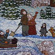 """Картины и панно ручной работы. Ярмарка Мастеров - ручная работа панно """" Рождество"""". Handmade."""