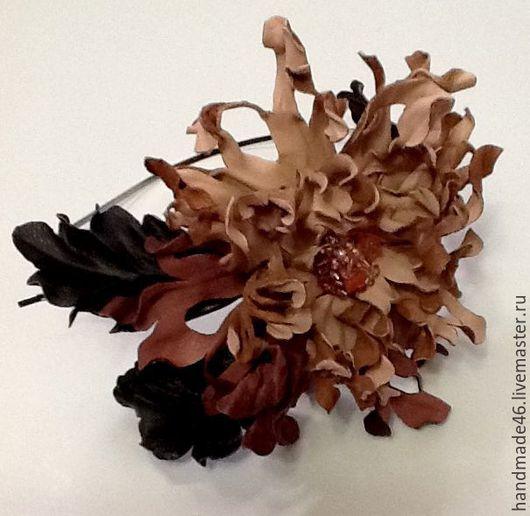 Диадемы, обручи ручной работы. Ярмарка Мастеров - ручная работа. Купить Ободок для волос. Handmade. Комбинированный, ободок с цветком